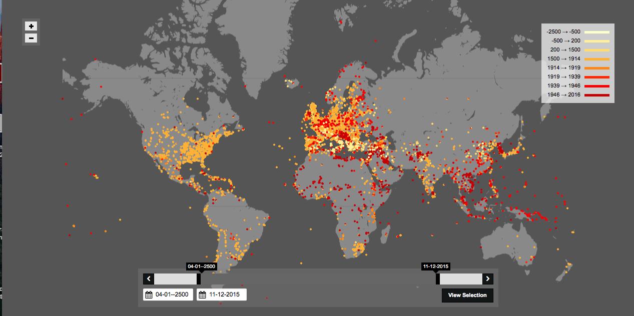 Dünyanın 'savaş' haritası yapıldı: 4500 yılda hangi savaşlar yaşandı?