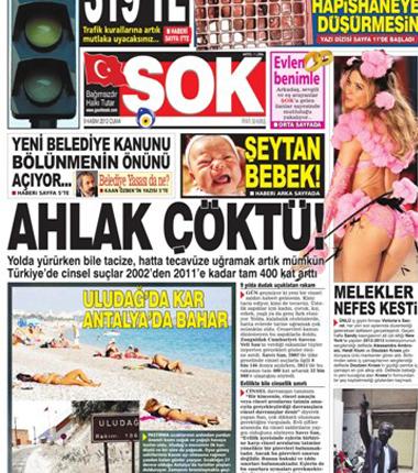 ŞOK Gazetesi Hepimize Ahlak Dersi Veriyor!