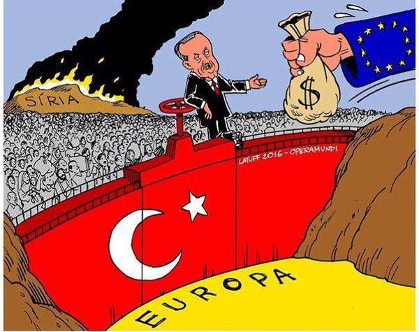 Carlos Latuff erdoğan ab mülteciler ile ilgili görsel sonucu