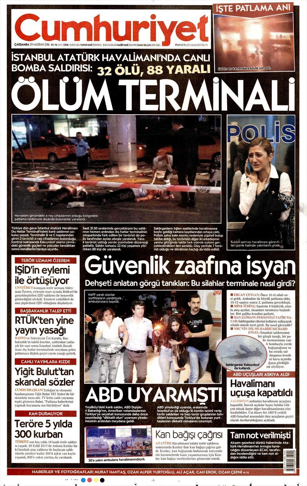 İşte Atatürk Havalimanı saldırısıyla ilgili tüm haberler 14