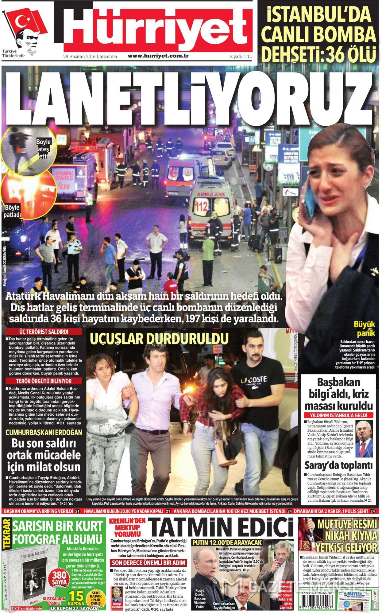 İşte Atatürk Havalimanı saldırısıyla ilgili tüm haberler 36