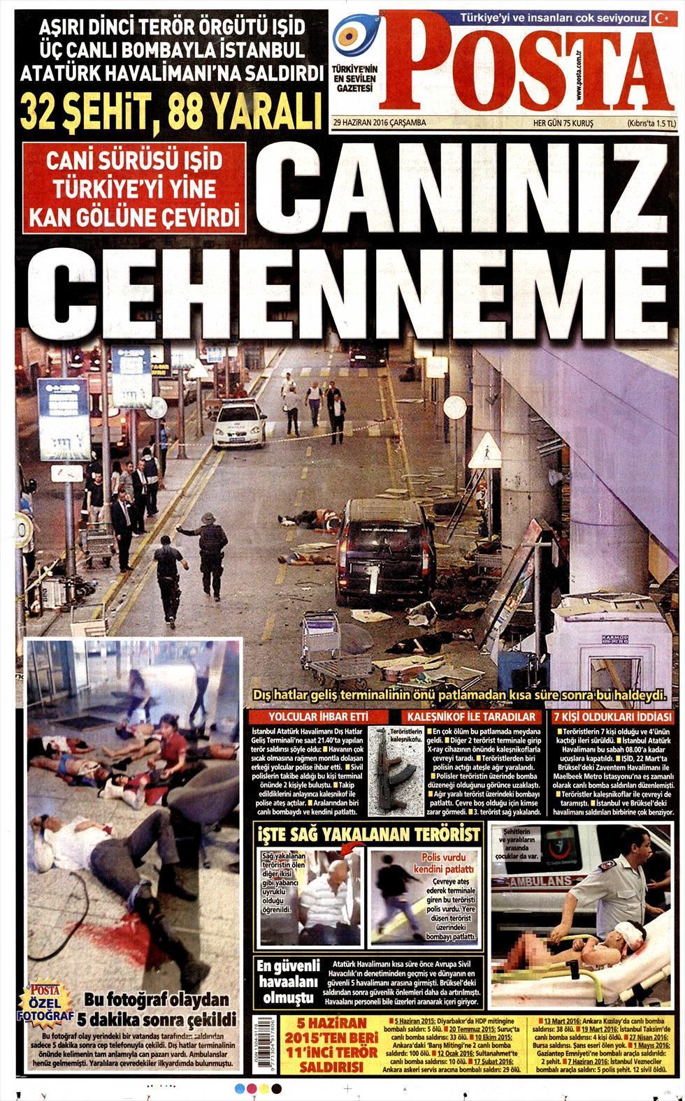 İşte Atatürk Havalimanı saldırısıyla ilgili tüm haberler 44