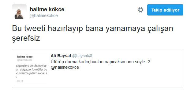 Kabataş yalancısı Halime Kökçe attığı Tweet'i unutunca kaçtı... 11135