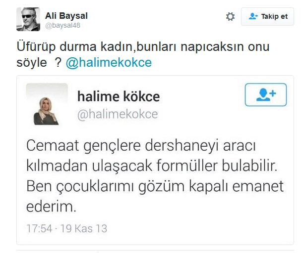 Kabataş yalancısı Halime Kökçe attığı Tweet'i unutunca kaçtı... 2261