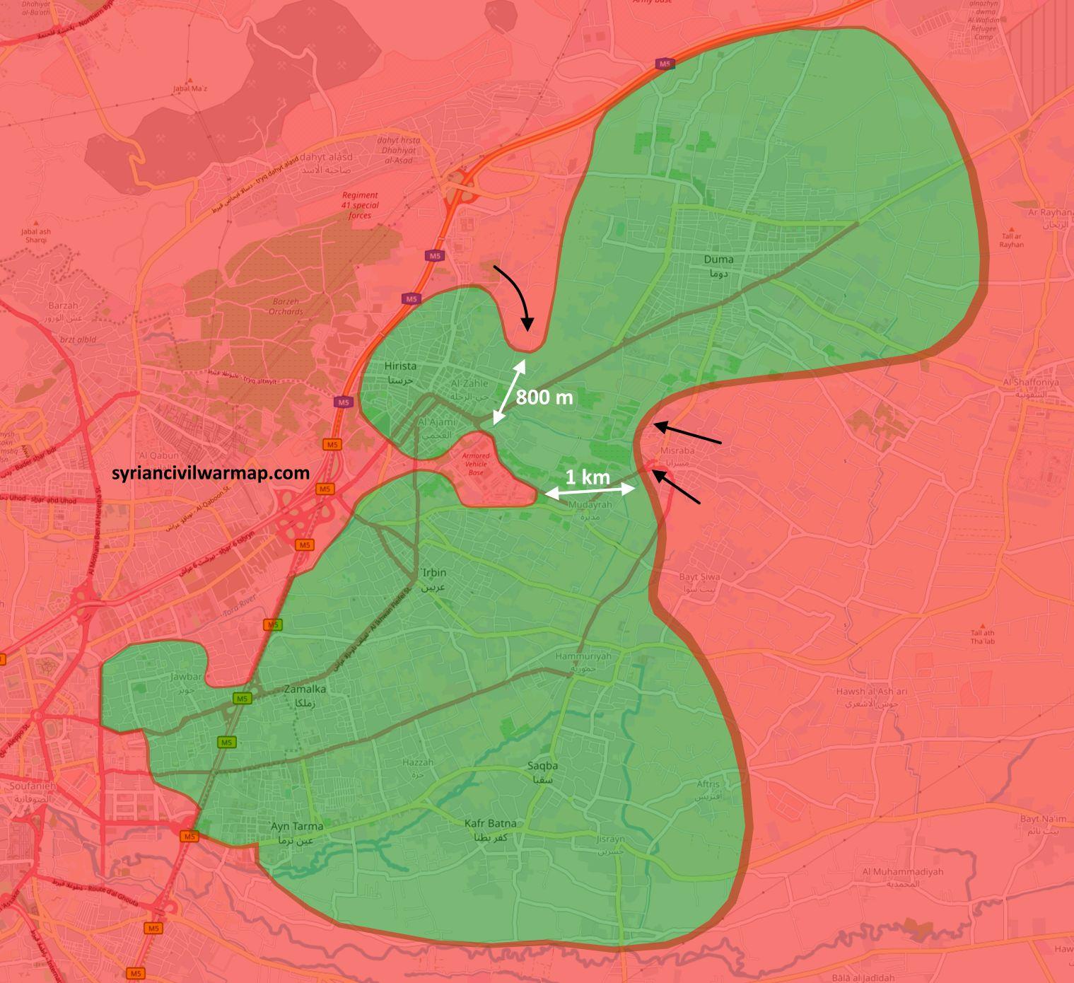 Suriye Ordusunun Doğu Guta Operasyonları Devam Ediyor