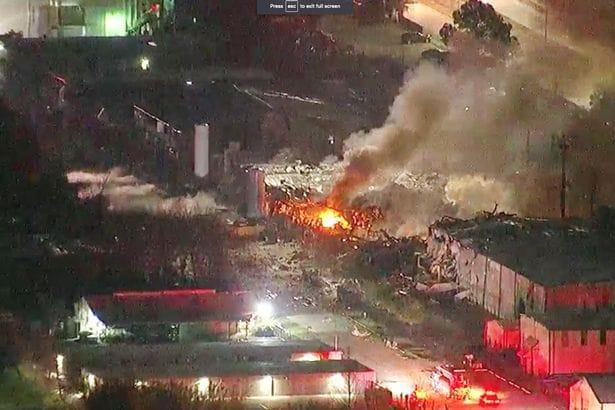 ABD'nin Texas eyaletinde şiddetli patlama
