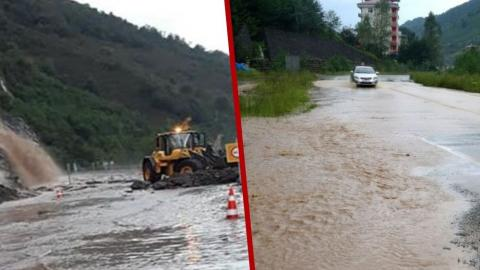 Doğu Karadeniz'de şiddetli yağış: Derelerin su seviyesi yükseldi