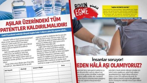Εκστρατεία υπογραφής: Όλα τα διπλώματα ευρεσιτεχνίας για τα εμβόλια πρέπει να καταργηθούν!