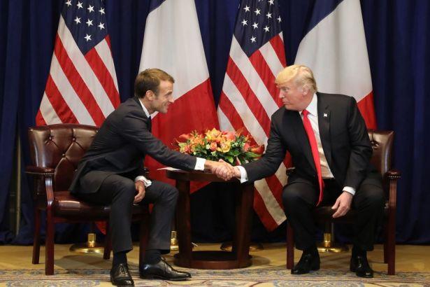 Trump ile Macron arasında İran ve ticaret görüşmesi