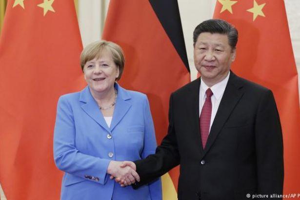 Merkel, Çin lideri Şi Cinping ile görüştü