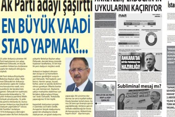 Ankarada Esrarengiz Gazete Metro Otobüs Dolmuş Duraklarında