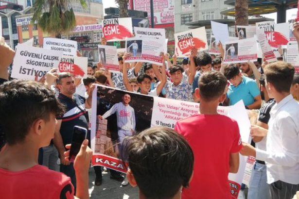Kurye arkadaşları Burak Demir için eylem yaptı