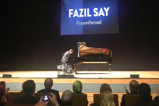 Erdoğan, Fazıl Say'ın 'Truva Sonatı' konserinde