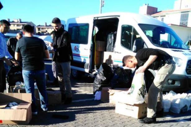 Erdoğan'ın dağıttığı çaylar resmi araçlarla AKP mitingine taşınıyor
