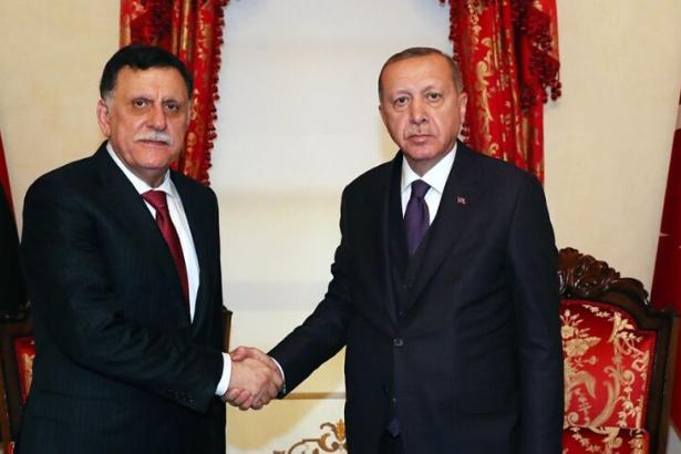 Erdoğan Libya Ulusal Mutabakat Hükümeti Başkanı'nı ağırladı