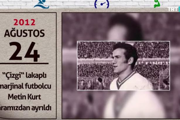"""TRT Spor ekranında Metin Kurt: """"Çizgi lakaplı 'marjinal' futbolcu aramızdan ayrıldı"""""""