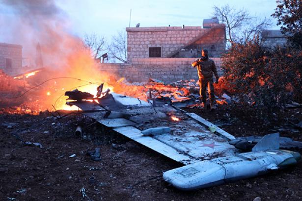 Suriye'nin düşürdüğü İsrail uçağının görüntüleri yayınlandı