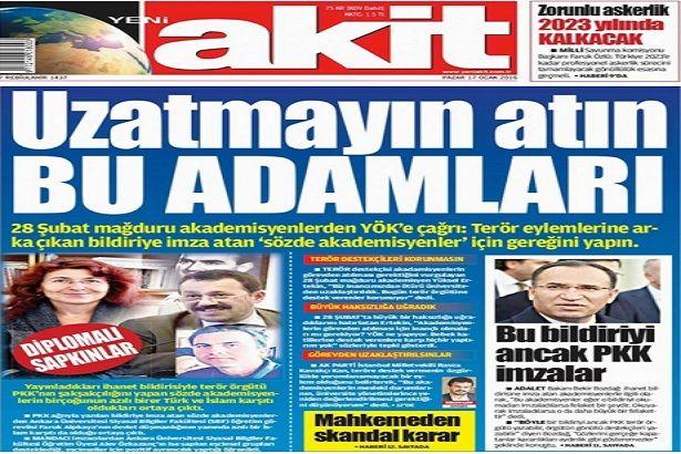 Yeni Akit'in çirkin ifadeleri 'basın özgürlüğü' sayıldı
