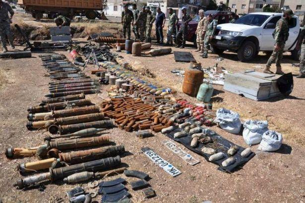 Suriye ordusu cihatçılara götürülen silahları ele geçirdi