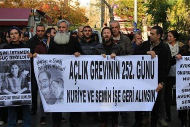Nuriye ve Semih'e destek eylemine polis yine saldırdı: Beş gözaltı
